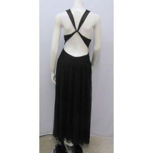 Calvin Klein Halter Dress Criss Cross Back SZ 14